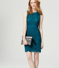 Primary Image of Lace Overlay Dress