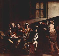 Caravaggio - Calling of St Matthew /The Contarelli Chapel, Rome c 1600