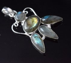 """Admirable Labradorite B"""" Day Gift For Her Sterling Silver Plated Pendant D236 #valueforbucks #Pendant"""