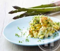 Æggesalat med radiser og asparges