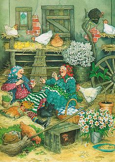 ". . ."" And When We've Finished We're Going To Paint The Hens Too. . ."" Artist: Inge  Look."