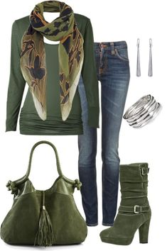 """~Green With Envy~"" by mels777 ❤ liked on Polyvore"