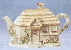 Lenox Irish Blessing Teapot Cottage House 22K Gold Accents EXC Look | eBay