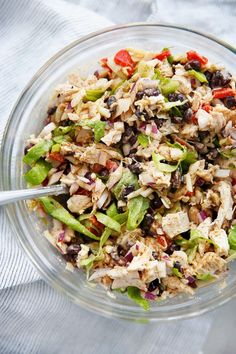 Healthy Taco Chicken Salad Recipe Perfect For Lunches All Week