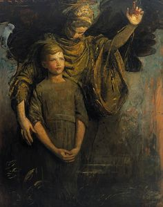 Le Prince Lointain: Abbott Handerson Thayer 'Boy and the Angel' Albert Bierstadt, Charles Angrand, Jean Leon, Beaux Arts Paris, I Believe In Angels, Robert Louis Stevenson, Marc Chagall, Angels Among Us, Spirituality