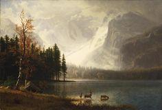 Albert Bierstadt(1830ー1902)「Estes Park, Colorado, Whyte's Lake」(c.1877)