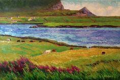 Kerry Grazing, Ireland - Valentia Island, painting by artist Roxanne Steed