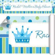 Announce your event in a royally big way.  Our Baby Prince Baby Shower Custom Banner is printed on high-quality vinyl and features grommets in all four corners for easy hanging, inside or out.  The festive party sign coordinates with the Little Prince theme. This eye-catching banner would also make a great birth announcement for bringing baby home! Banner measures 60 inches x 15 inches and is sold individually.