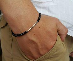 MENS BRACELET SALE Mens Black Onyx Bracelet Mens Bead Bracelet Mens Jewelry Yoga Bracelet Mens Beaded Bracelet Beaded 4mm