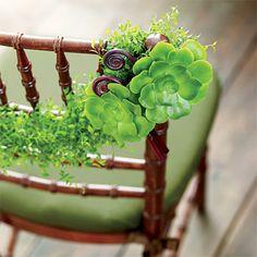 Vibrant Green Bloom Reception Decor   Wedding Style