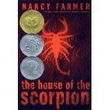 The House of the Scorpion by Nancy Farmer, http://www.amazon.com/dp/0756928087/ref=cm_sw_r_pi_dp_XXGUqb09K8Q52