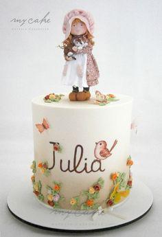 Sara Kay Cake by Natalia Casaballe Pretty Cakes, Cute Cakes, Beautiful Cakes, Amazing Cakes, Fondant Cakes, Cupcake Cakes, Fantasy Cake, Hand Painted Cakes, Barbie Cake