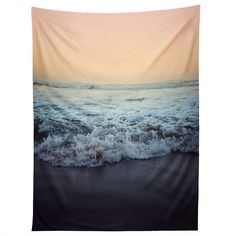 The Deny Designs Leah Flores Crash Into Me Wall Tapestry whisks you away to the roaring ocean's shore. This incredibly beautiful wall tapestry. Blue Tapestry, Tapestry Beach, Tapestry Bedroom, Wall Tapestry, Fabric Wall Decor, Home Decor Wall Art, Room Decor, Room Art, Beautiful Wall