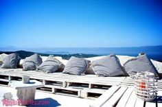 White Sails Ibiza's Rooftop Chillout with Seaviews Outdoor Sofa, Outdoor Spaces, Outdoor Living, Outdoor Furniture, Outdoor Decor, Ibiza Travel, Ibiza Trip, Diy Furniture Making, Pallet Seating