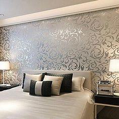 moderne 3d bakgrunn art deco tapetsering ikke-vevet papir veggen kunst – NOK kr. 350