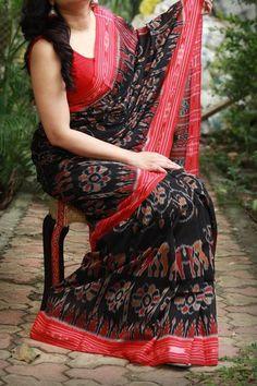 Handmade Chikankari Tepchi Georgette Saree by Dvija Sambalpuri Saree, Handloom Saree, Silk Sarees, Lace Saree, Red Saree, Saris, Indian Sarees, Saree Blouse, Trendy Sarees