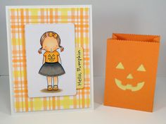 Pretty Pumpkin pretty pumpkin; plaid background builder Paper: orange fizz; banana split; smooth white Ink: black licorice; orange fizz; banana split Accessories: paper bag treat box; paper bag peek-a-boos; blueprints 6   Read more: http://www.splitcoaststampers.com/gallery/photo/2404184#ixzz2bZVH4qho