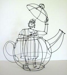 teapot ......... wire sculpture