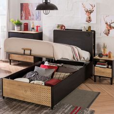 Storage beds provide simple and practical ways of keeping teen boys bedroom. Use this storage furniture with bed features to perfectly transform the decor of your teen boys room. Bedroom Themes, Kids Bedroom, Teen Boy Bedding, Ottoman Bed, Childrens Beds, Bed Storage, Luxury Bedding, Toddler Bed, Furniture