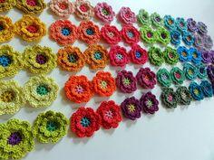 Crochet Flowers ❥ 4U // hf