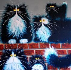 Eyed cat artist Kim Haskins :: Cats - drawing, drawing, painting