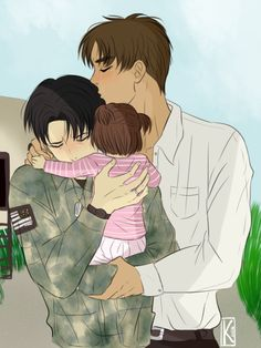 "atkaaa | Tumblr >>> silvereyesandsilverblades said: ""Hi! Can I have a modern AU where Levi comes home from the war and there's happy reunions at the airport! I love your work, much wow, such inspire. "" and then this beautiful thing was made. Made me cry. Seriously."