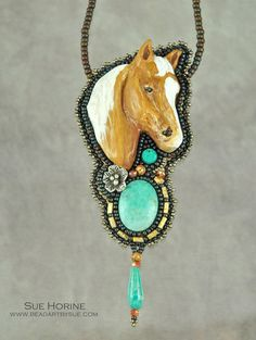 Handmade Polymer Clay Palomino Horse with by sedonaskye on Etsy