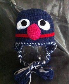 Blue Grover Crochet Hat size 612m by MiskersAndWiskers on Etsy, $26.50