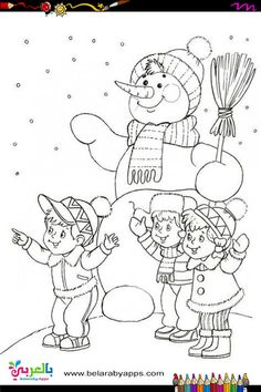Free Printable Snowman Coloring Pages For Kids ⋆ BelarabyApps Snowman Coloring Pages, Coloring Pages Winter, Coloring Sheets For Kids, Christmas Coloring Pages, Coloring Pages To Print, Coloring Book Pages, Free Coloring, Christmas Images, Christmas Colors