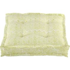 Floor cushion - love this chartreuse block print... but i'd stack 3-4 to give it structure.
