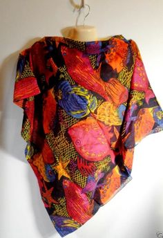 Womens Huge Fish Scarf Wrap Shawl Colorful Cotton Beach Long  #Unknown #Scarf