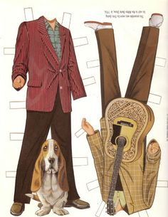 Elvis Presley paper doll