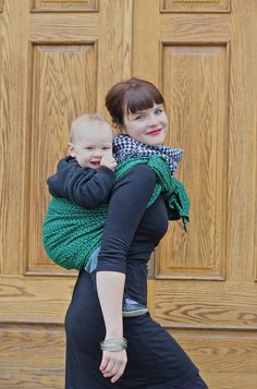 Wearing in cooler weather...with style! #oscha japanese knot satori #babywearing #wovenwraps