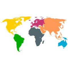 Continents Map SVG Picture
