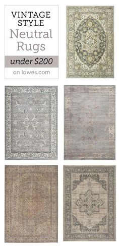 My favorite neutral rugs under $200 from Lowe's | Jenna Sue Design Blog