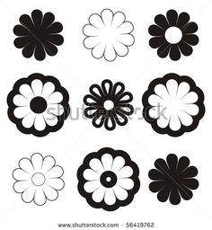 flowers-black-on-white