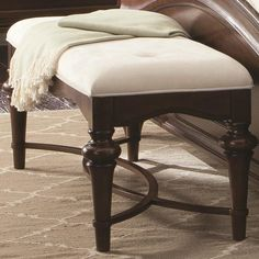 Sherwood Traditional Red Brown Wood Bench