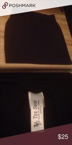 ea795d33865b Tee Shop Black Stretch Mini Skirt Black Mini Skirt 94% Cotton 6% Spandex  There