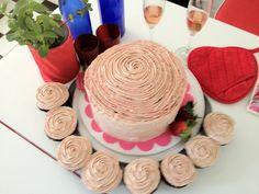 Opulent Chocolate cake with chocolate ganache buttercream icing. So romantic!