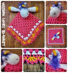 Unicorn Lovey Blanket by the-carolyn-michelle.deviantart.com on @deviantART