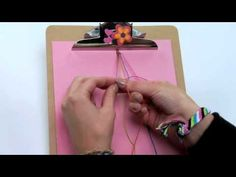Friendship Bracelet Pattern: Diagonal Stripes - Watch this video to learn one of the basic knots in friendship bracelets: the forward spiral knot. Thread Bracelets, Paracord Bracelets, Friendship Bracelet Patterns, Friendship Bracelets, Alpha Patterns, Diy Jewelry, Jewlery, Summer Fun, Spiral