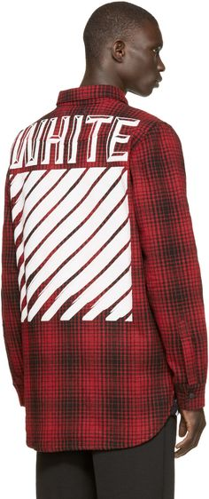 Off-White Red & Black Tartan Shirt