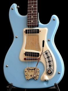 Swedish Hagstrom Blue Electric Guitar 1966 1967