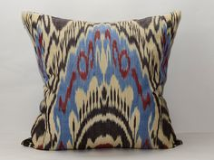 20x20 eco textile fully hand woven and hand dyed ikat by SilkWay, $24.69