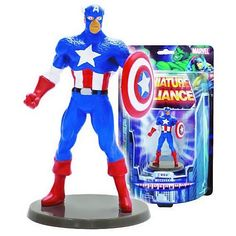 BLOG DOS BRINQUEDOS: Captain America Marvel Miniature Alliance Paperwei...