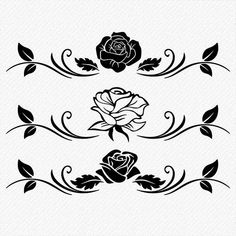 Dia De Las Madres Frases Discover Roses SVG cutting files Floral Roses Clipart Set of 3 roses for Silhouette Clipart DIY Projects clean cutting files svg dxf eps png Stencil Patterns, Hand Embroidery Patterns, Embroidery Designs, Rose Clipart, Line Art Images, Cricut, Wall Decor Stickers, Flash Art, Silhouette Vector