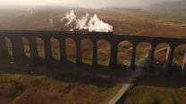 The return to steam power is part of the celebrations to mark the full reopening of the line after landslip damage.