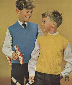 Boys Wear, Vintage Knitting, English Uk, Beautiful Boys, Knit Crochet, Knitwear, Knitting Patterns, Kids Fashion, Vintage Fashion