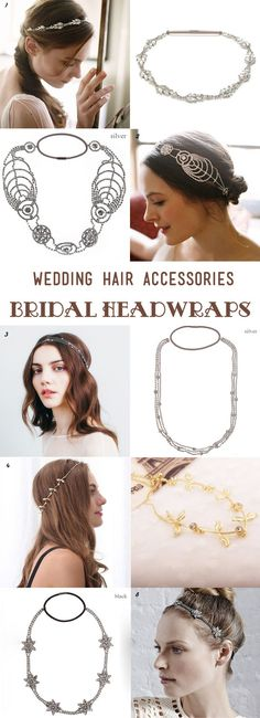 gorgeous wedding headwraps and bandbeauxes for all brides