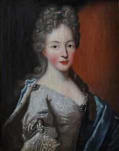 Marie Anne de Bourbon, Légitimée de France (2 October 1666 – 3 May 1739), first Mlle. de Blois by Philippe Vignon (Galerie FC)